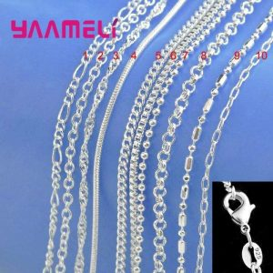 Chain Necklace with Lobster Clasps