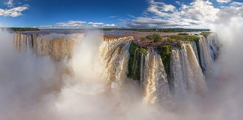 Iguasu Falls, Argentina and Brazil, People, Woman, Travel, Adventure, Trek, Mountain, Rock