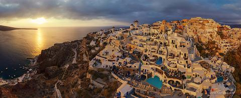 Santorini (Thira), Oia, Greece, People, Woman, Travel, Adventure, Trek, Mountain, Rock