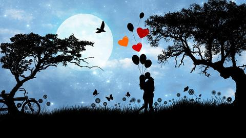 Love, Couple, Romance, Valentine, Valentine'S Day, Moon